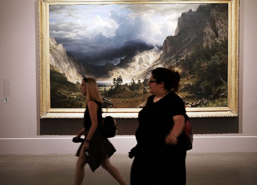 NEW YORK, NY - MAY 20: People walk through the galleries of the Brooklyn Museum, one of New York's oldest and most renown cultural institutions, on May 20, 2016 in New York City. The Brooklyn Museum has announced that they will start to offer employee buyouts as they face a $3 million deficit. The museum has an operating budget of $38.6 million and will join the Metropolitan Museum of Art and MoMA in offering the buyouts. Museums throughout the country have been struggling as they face mounting operating costs and competition for the public's attention. (Photo by Spencer Platt/Getty Images)