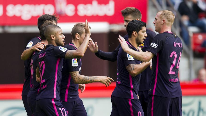 Sin Messi, Barcelona aplasta 0-5 al Sporting de Gijón