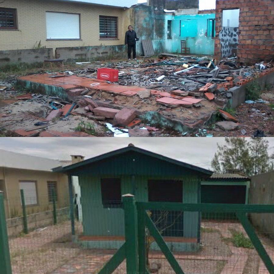 Robo completo de una casa en Brasil