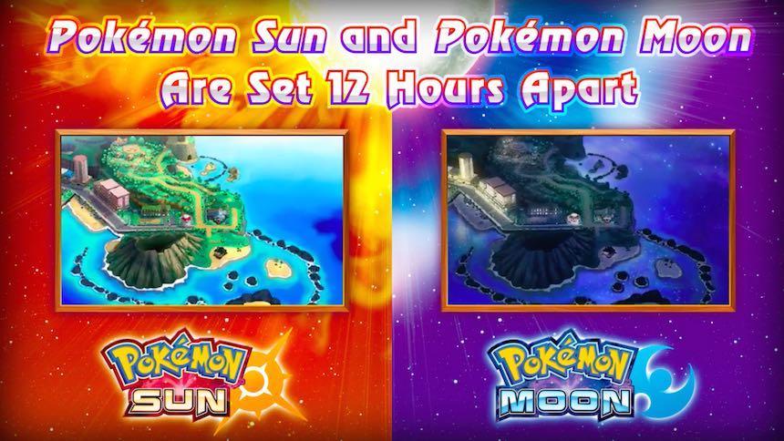 Cambios día/noche Alola Pokémon Sun/Moon
