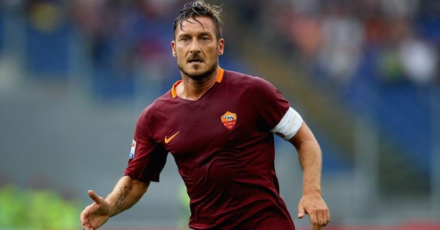 Francesco Totti con la Roma
