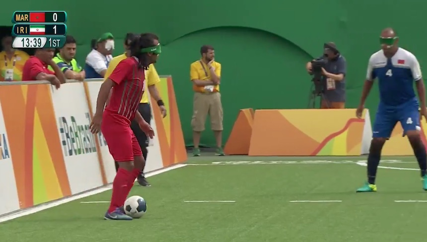 Chequen este gran gol en el futbol paralímpico de Río 2016.