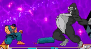 ¡El poderosísimo Harambe se enfrenta a los personajes de Street Fighter!