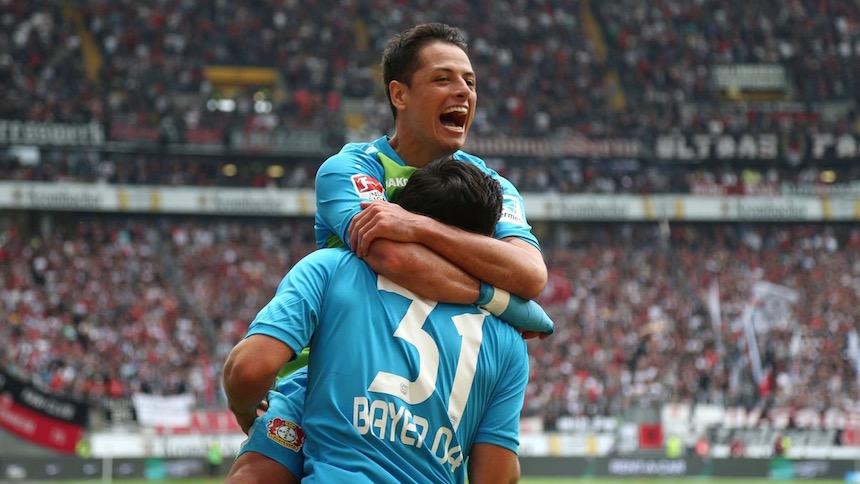 Chicharito y Marco Fabian anotan y se lucen en la Bundesliga