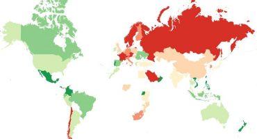 ¡Ahí les va un mapa con los mejores y peores países para hacer amigos!