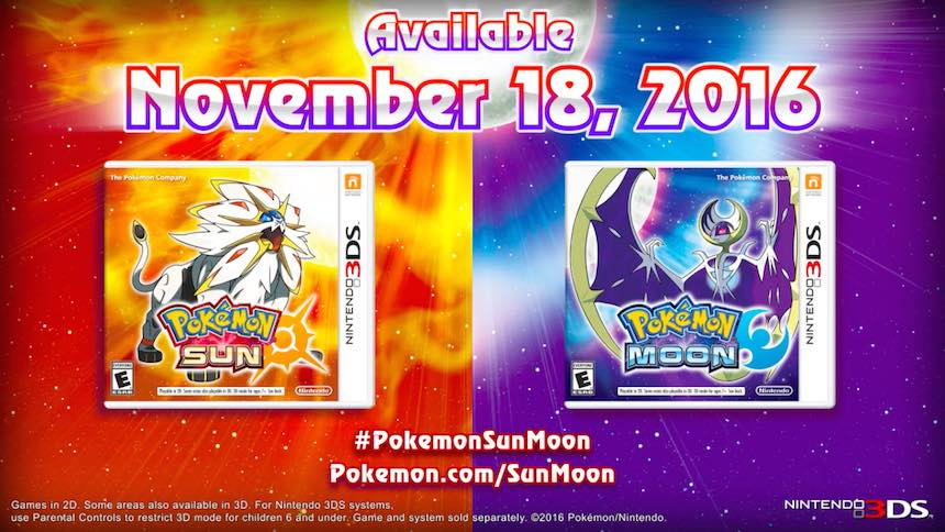 Pokémon Sun/Moon Versiones