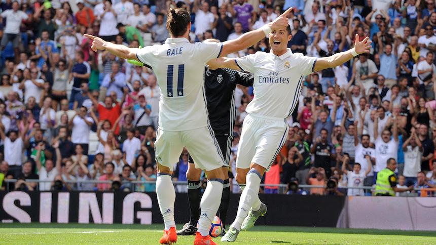 Feria de goles en el triunfo del Real Madrid sobre Osasuna