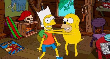 ¡Checa el increíble intro de Los Simpson al estilo Hora de Aventura!