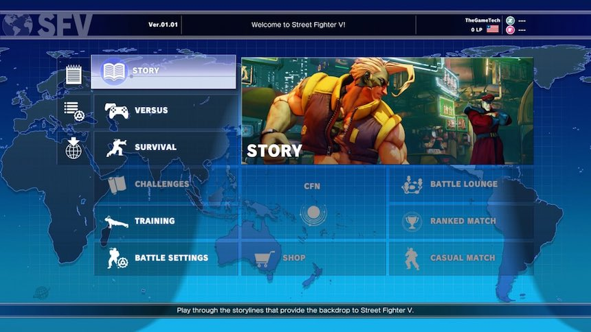 Street Fighter 5 Modos de Juego