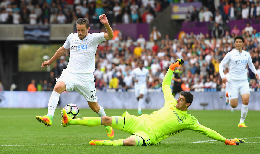 El Swansea logró el empate a pesar de no jugar bien