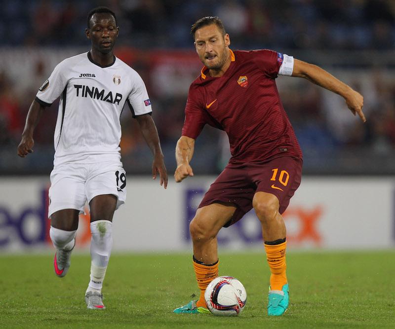 Francesco Totti en Europa League