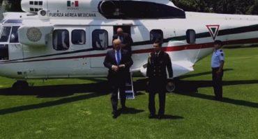 Trump usó helicóptero oficial para llegar a Los Pinos... debe pagar, revela TIME