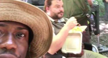 ¡Miren a Kevin Hart y Jack Black en este video del set de Jumanji!