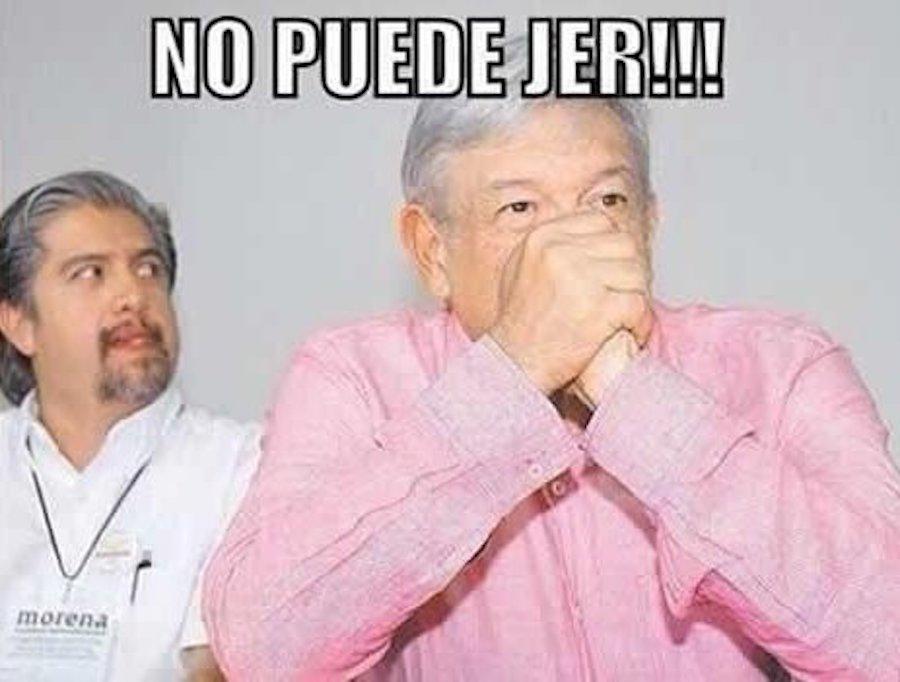 AMLO - Meme - No puede jer!!