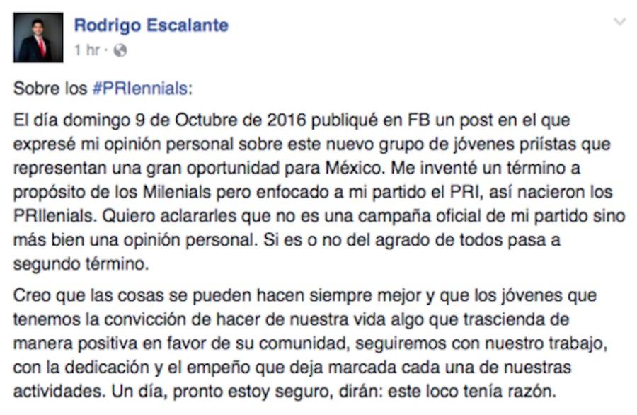 #PRIennials - Escalante - Facebook