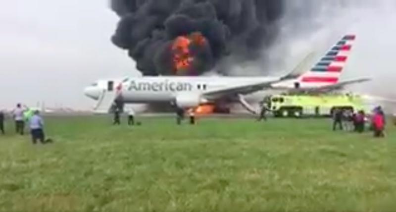 Así se vivió desde adentro el incendio del avión de American Airlines