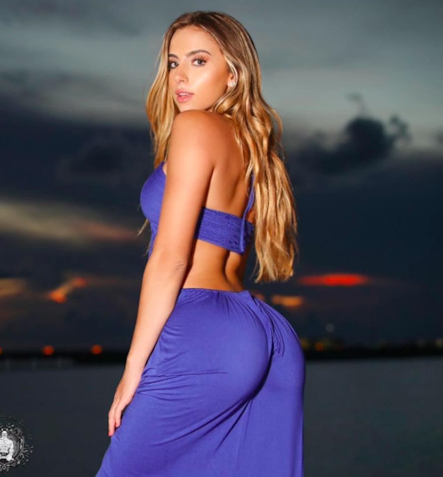 Bruna Lima en vestido