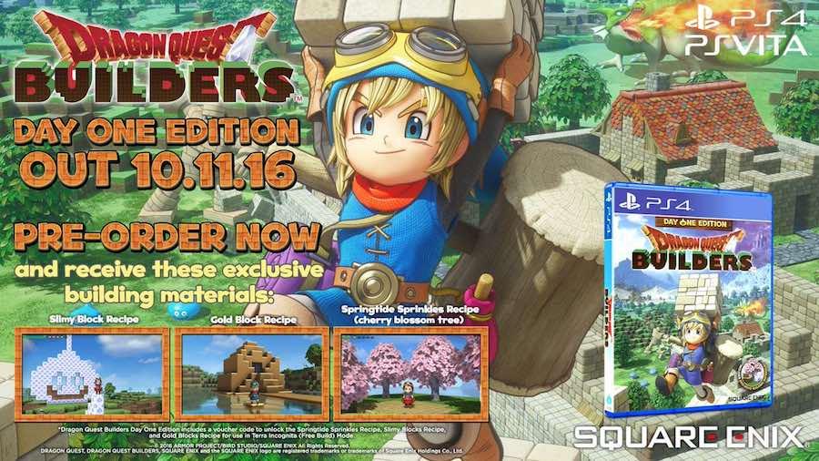 Dragon Quest Builders Lanzamiento