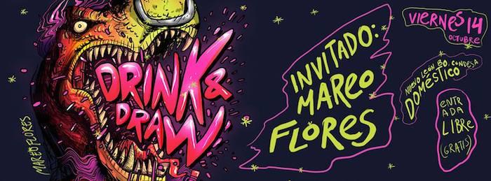 Drink and Draw, un evento para que dibujantes compartan ideas