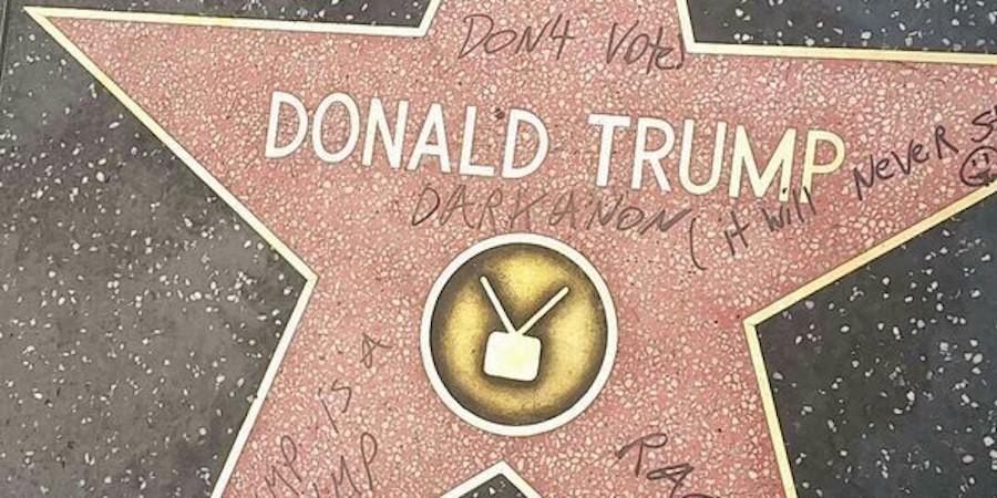 Vandalismo en la estrella de Trump