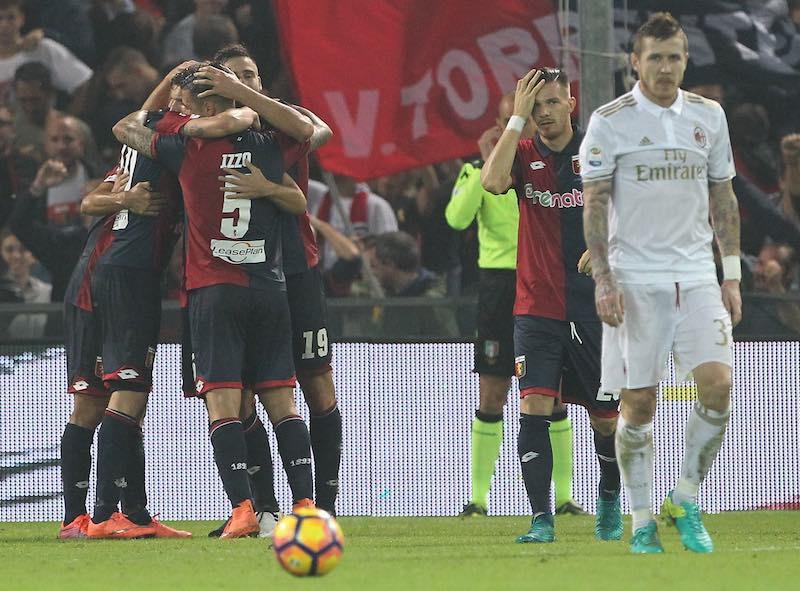 Milan no muestra su gran nivel y pierde de visita ante Genoa