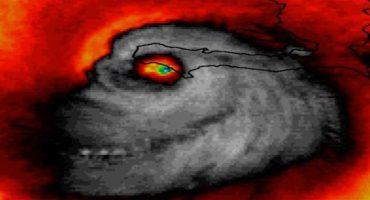 No es photoshop: imagen satelital muestra el rostro del huracán #Matthew