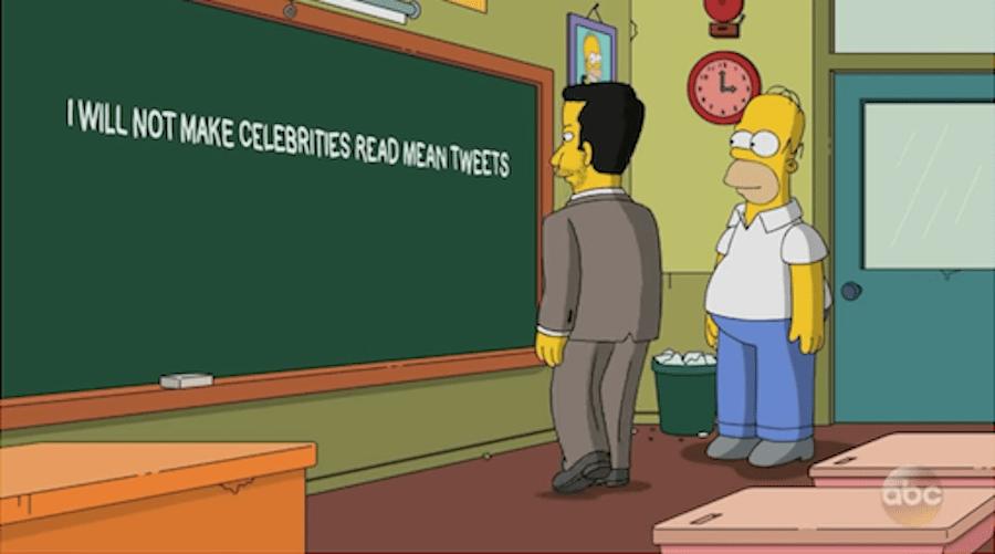 Jimmy Kimmel visitó Springfield para celebrar 600 episodios de Los Simpson