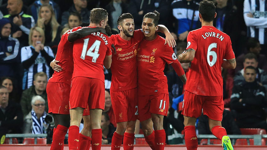 El Liverpool superó al West Bromwich y es el nuevo líder de la Premier League