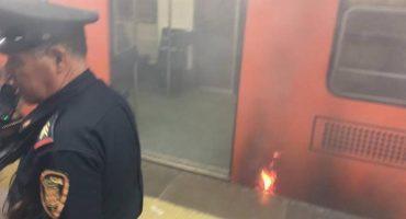 Se registra incendio en estación Cuauhtémoc de la línea 1 del Metro