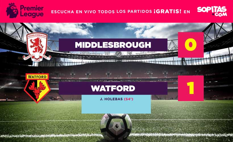 Middlesbrough Watford marcador