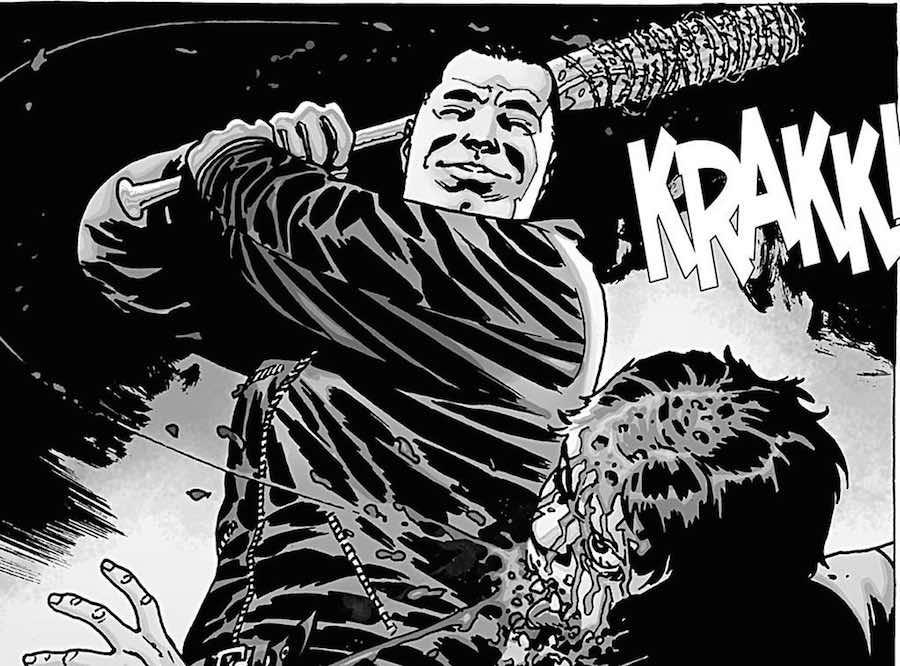 Negan mata a Glenn