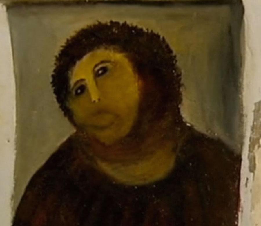 Pintura fea de Jesús