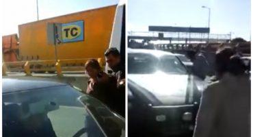 Suspenden a policía estatal en Puebla tras agredir a una mujer