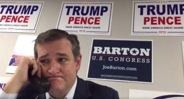 El rostro de sufrimiento de Ted Cruz al pedir apoyo para Trump, ¡no tiene precio!