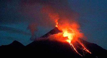 La impresionante erupción del Volcán de Colima