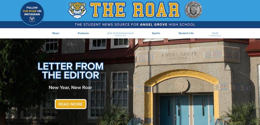 El nuevo sitio web de Angel Grove