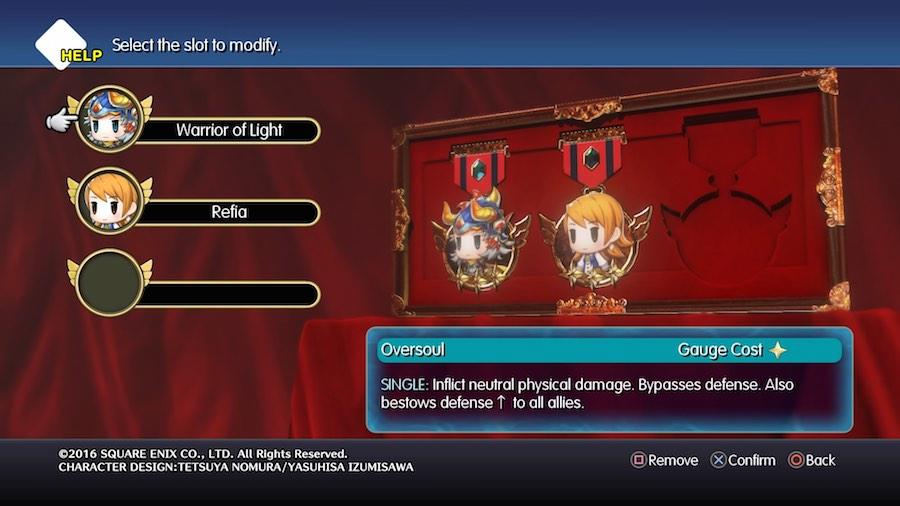 World of Final Fantasy Medallas