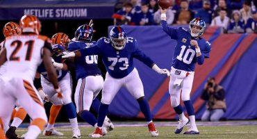 Eli Manning mantiene la racha de Giants en el Monday Night Football