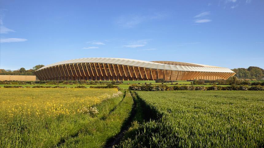 En Inglaterra se podía construir el primer estadio de madera