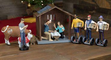 ¡Jamás verán un nacimiento de Jesús más hipster que este!