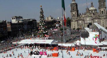 Sí habrá pista de patinaje en el Zócalo... pero será de acrílico
