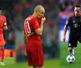 Thiago Silva, Frank Ribéry y Arjen Robben