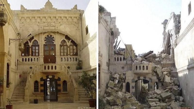 Destruccion de Aleppo en Siria