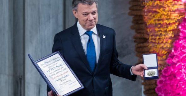 Juan Manuel Santos recibe Premio Nobel de la Paz