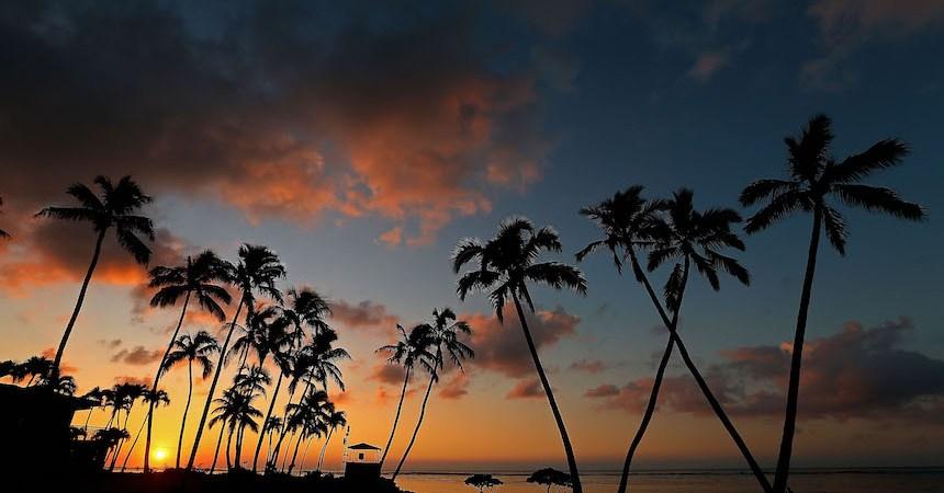 Nieva en Hawai