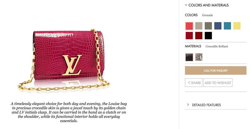 Bolsa cocodrilo Louis Vuitton