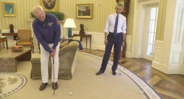 Bill Murray y Barack Obama juegan golf, ¿algo podría ser mejor?