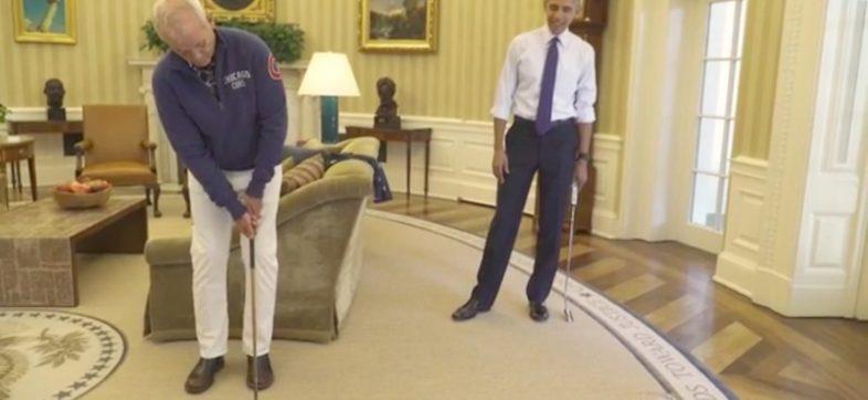 Bill Murray y Barack Obama juegan golf
