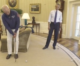 Bill Murray y Barack Obama juegan golf