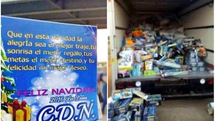 ¡Narca Navidad! Cártel Noreste reparte regalos en colonias de Tamaulipas